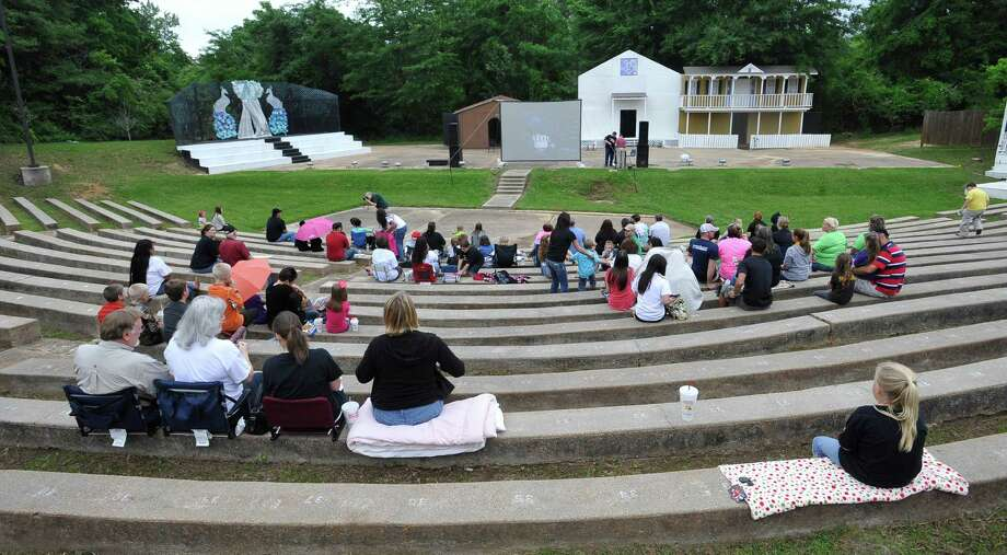 Closer to the start of the show, the amphitheater begins to fill. The City of Woodville hosted a Kree Harrison watch party Thursday night at the Joe Wheat Dogwood Amphitheater in downtown Woodville. Upwards of 150 people sat on concrete, chairs, and blankets to enjoy the two hour season finale of American Idol  Dave Ryan/The Enterprise Photo: Dave Ryan