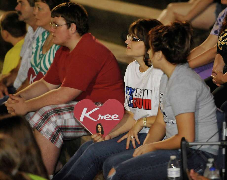 The City of Woodville hosted a Kree Harrison watch party Thursday night at the Joe Wheat Dogwood Amphitheater in downtown Woodville. Upwards of 150 people sat on concrete, chairs, and blankets to enjoy the two hour season finale of American Idol  Kree Harrison came in second place.  Dave Ryan/The Enterprise Photo: Dave Ryan