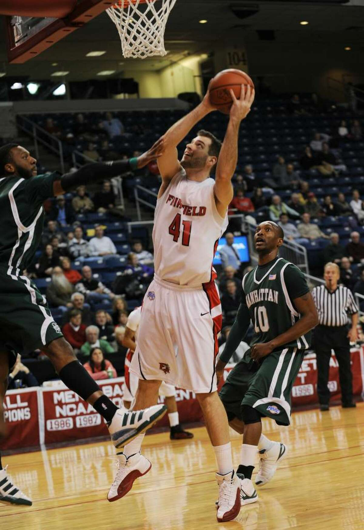 Mike Evanovich- Fairfield U. vs. Manhattan basketball