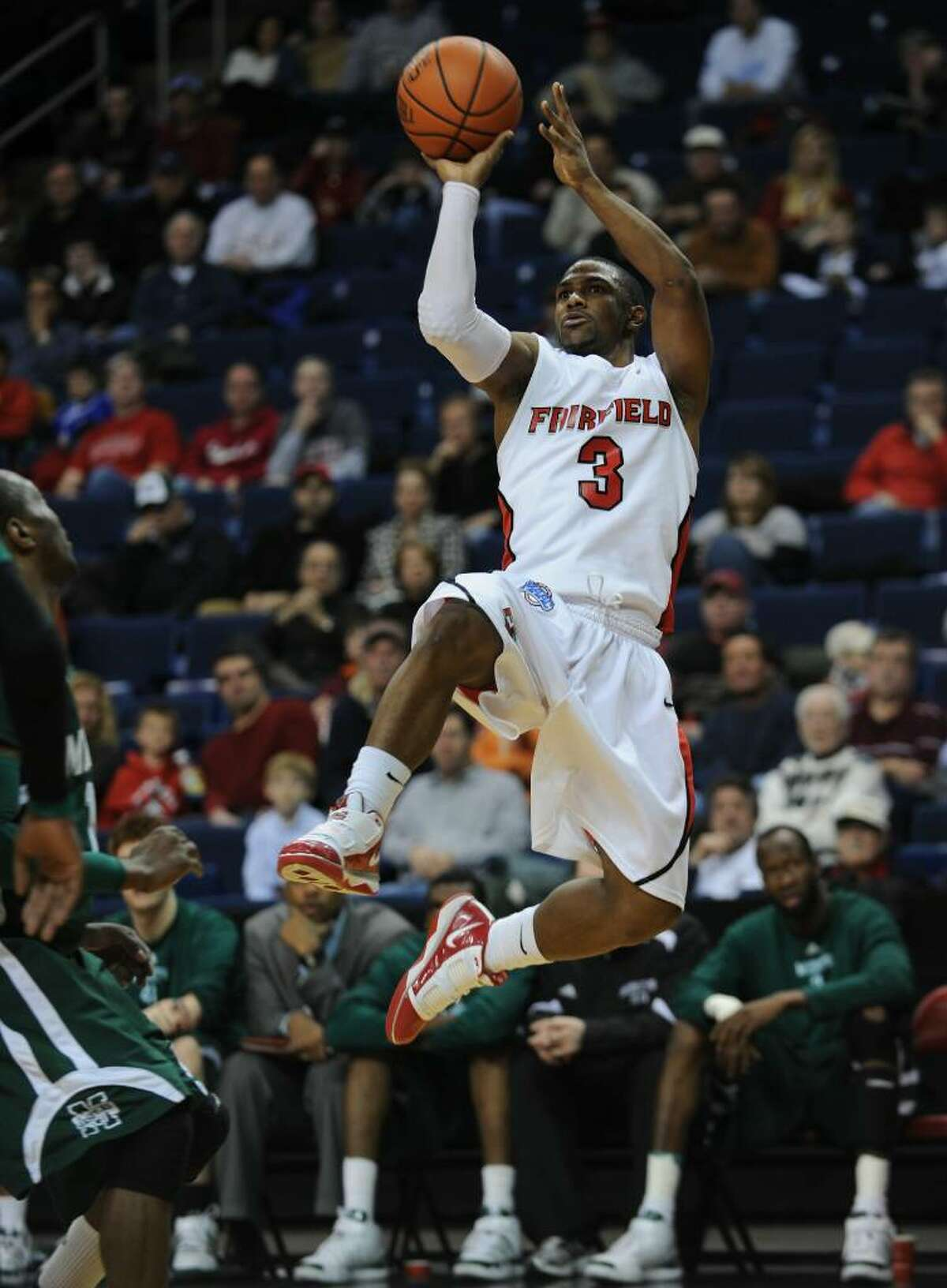 Derek Needham- Fairfield U. vs. Manhattan basketball