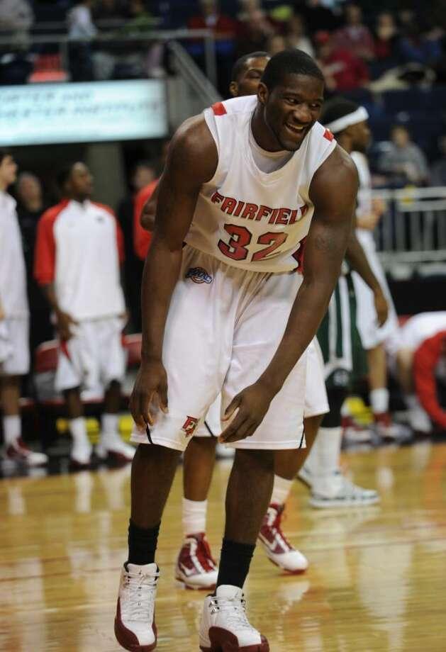 Anthony Johnson- Fairfield U. vs. Manhattan basketball Photo: Brian A. Pounds / Connecticut Post