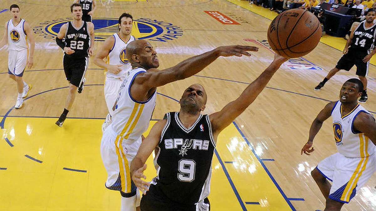 Tony Parker shot 3-of-6 in Thursday's Game 6 victory over the Warriors, but made two 3-pointers and scored 10 points in the final four minutes of the game. Edward A. Ornelas / San Antonio Express-News