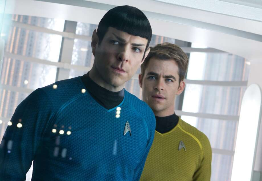 "Best remake: Zachary Quinto, left, as Spock and Chris Pine as Kirk in the movie, ""Star Trek Into Darkness,"" from Paramount Pictures and Skydance Productions."