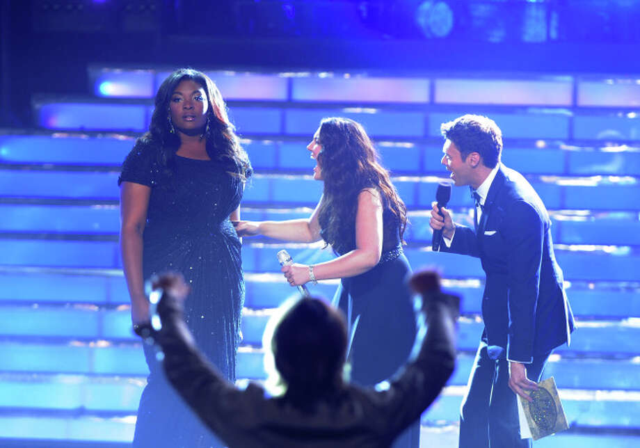 AMERICAN IDOL: Candice Glover learns she is the Season 12 winner during the season 12 AMERICAN IDOL GRAND FINALE at the Nokia Theatre on Thursday. May 16, 2013 in Los Angeles, California.  CR: Ray Mickshaw/FOX