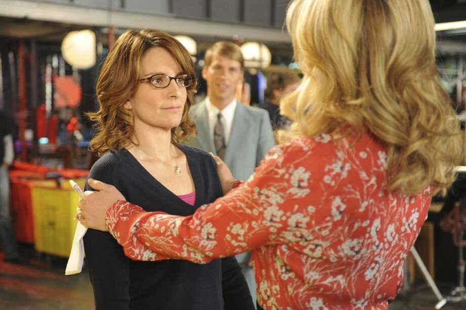"Tina Fey as Liz Lemon, left, and Jane Krakowski as Jenna Maroney in a scene from  ""30 Rock,."