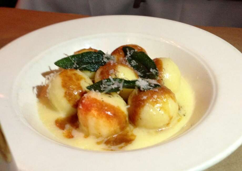 Sheep's milk ricotta gnudi at the Spotted Pig