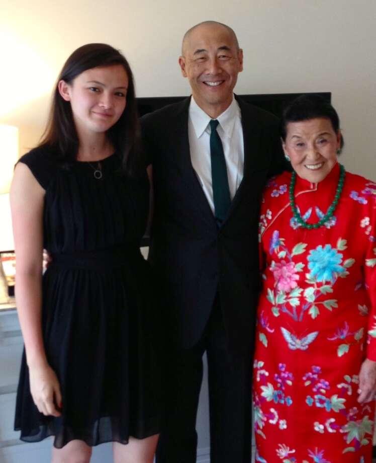 Siena Chiang, Philip Chiang and Cecilia Chiang