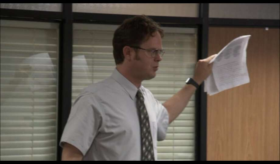 14. Jim (along with Pam) listed a number of absurd medical conditions when Dwight insisted everyone list all medical ailments to be covered by health insurance. (I, too, suffer from Count Choculitis, Hot Dog Fingers & Spontaneous Dental Hydroplosion.)