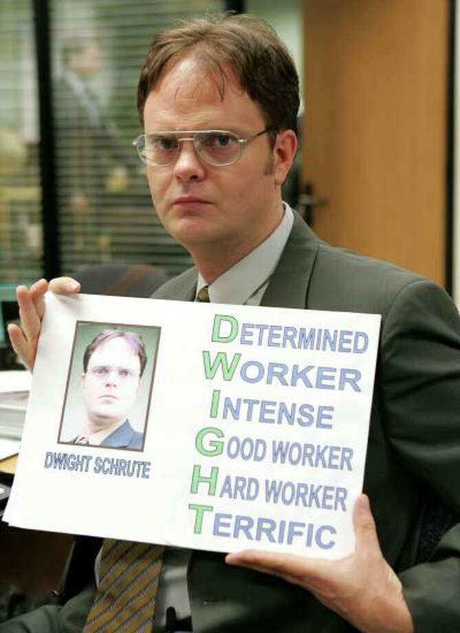 """12. Jim paid each of his coworkers $5 to call Dwight """"Dwayne"""" for the day. It's the little victories in life."""