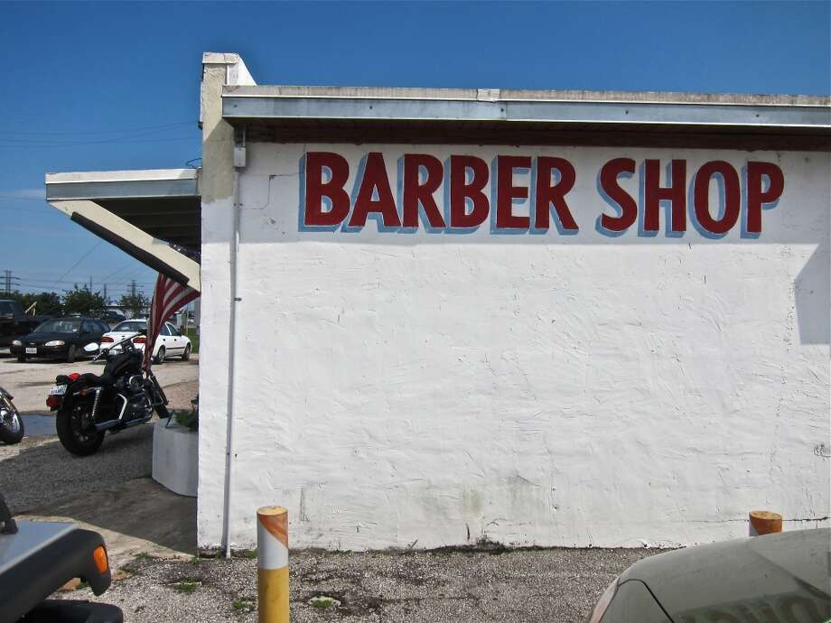Clear Lake twofer: the barber shop adjoining Carlos Beer Garden.