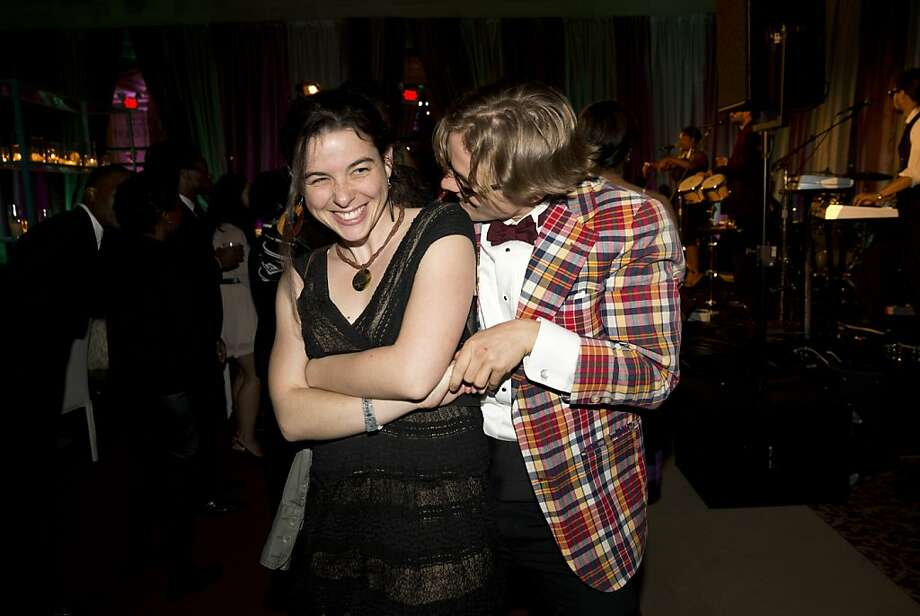 Katie Kelly-Hankin (left) dances with Will Skinner during the after party for the San Francisco Symphony's inaugural Spring Gala at City Hall in San Francisco, Calif., on Thursday, May 16, 2013. Photo: Laura Morton, Special To The Chronicle