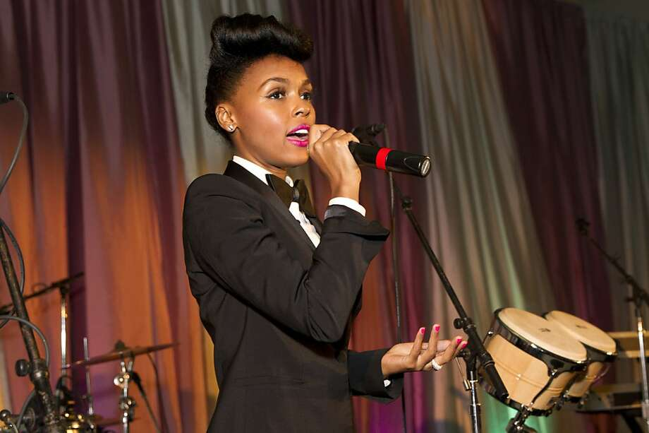 Janelle Monáe speaks to guests of the VIP after party during the San Francisco Symphony's inaugural Spring Gala at City Hall in San Francisco, Calif., on Thursday, May 16, 2013.  Photo: Laura Morton, Special To The Chronicle