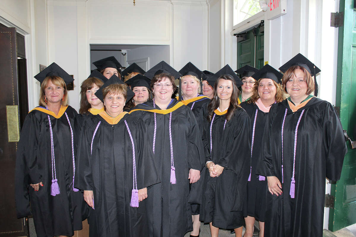 The faculty and staff of the Ellis School of Nursing at the class of 2013 graduation ceremony on Thursday, May 16, 2013. (Provided photo)