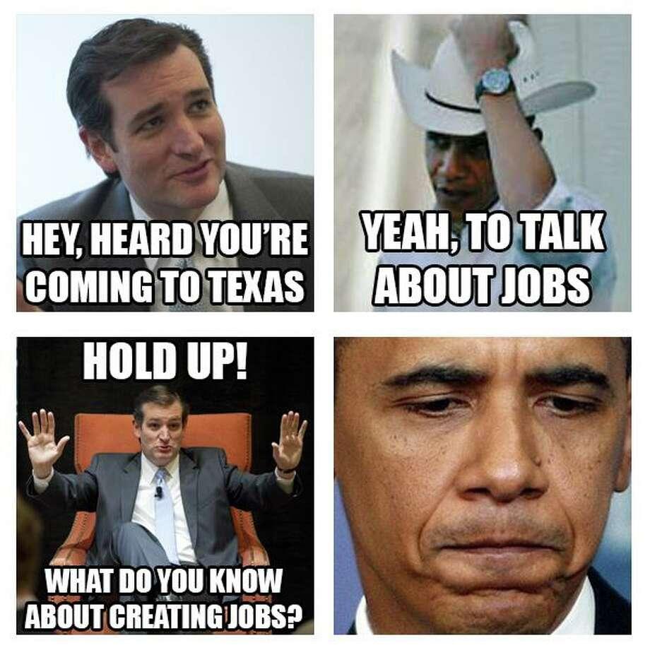 Sen. Ted Cruz recaps his version of President Obama's visit to Texas.