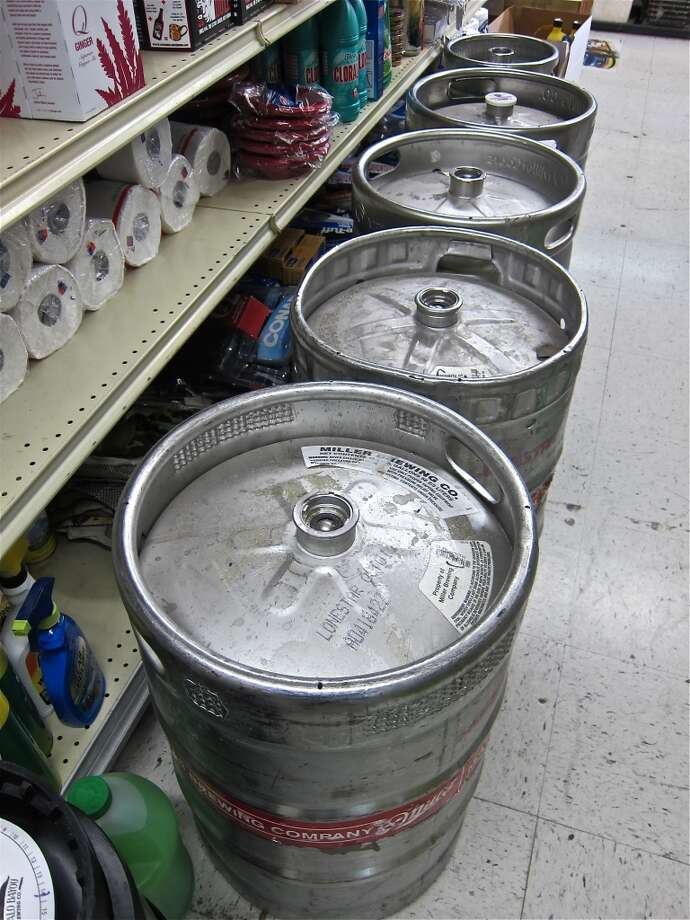 Kegs at D&Q Beer Station on Richmond, in Montrose, one of PSA's first clients.