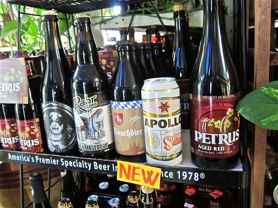 Beers at D&Q Beer Station, where Justin Vann's wine selections are beginning to appear on the shelves.