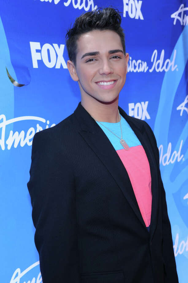 AMERICAN IDOL: Finalist Lazaro Arbos arrives on the red carpet for the  season 12 AMERICAN IDOL GRAND FINALE at the Nokia Theatre on Thursday. May 16, 2013 in Los Angeles, California.  CR: Ray Mickshaw/FOX