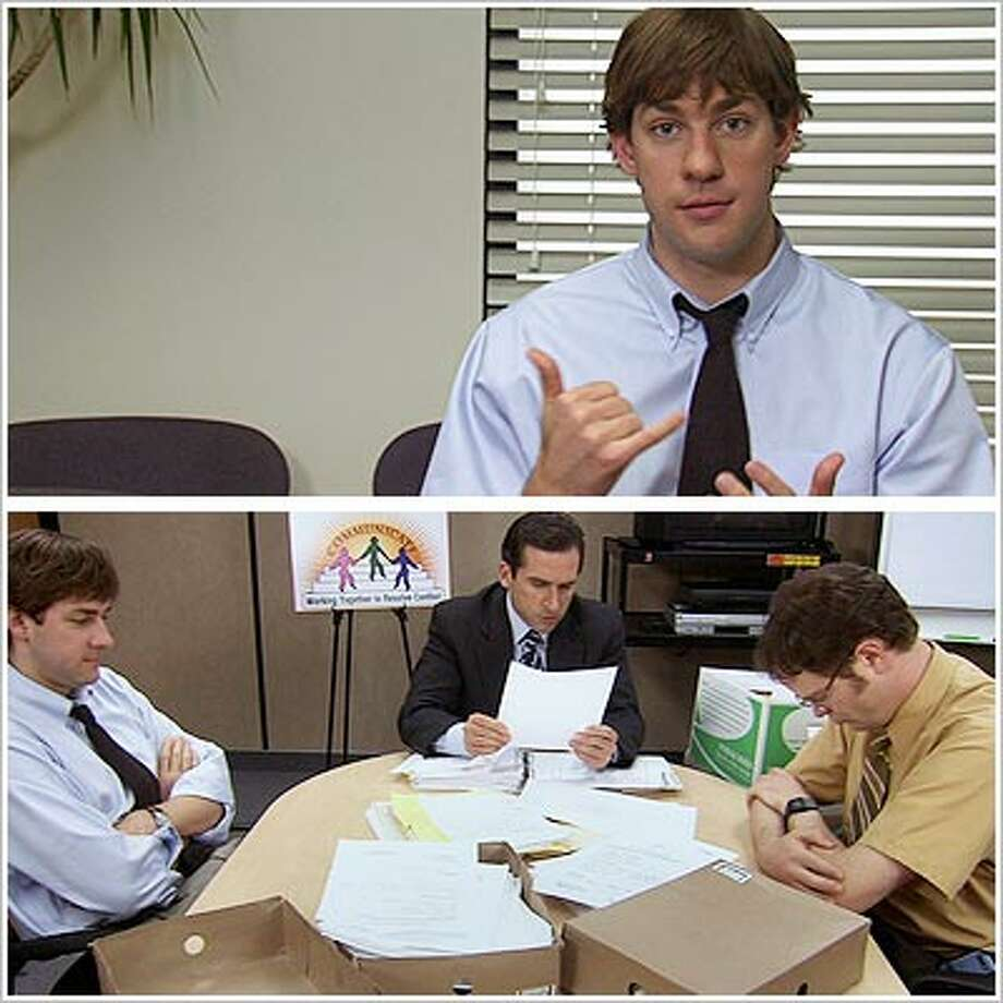 "9. Dwight: ""This morning, I knocked myself in the head with the phone.""