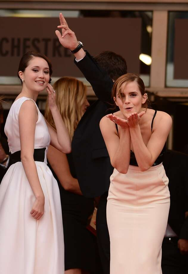 Actress Katie Chang, actor Israel Broussard and actress Emma Watson attend 'The Bling Ring' premiere during The 66th Annual Cannes Film Festival at the Palais des Festivals on May 16, 2013 in Cannes, France.