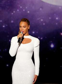Beyonce performs in the United Nations Assembly Hall on Friday, Aug. 10, 2012. Photo: Cliff Watts