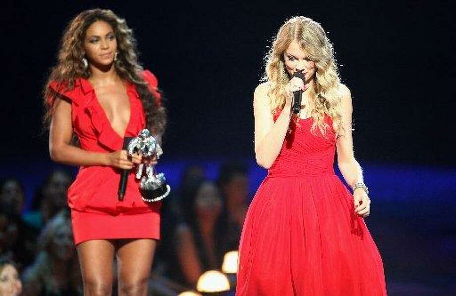 Beyoncé has been called gracious. And she proved it when, after winning her own award, she let Taylor Swift finish her acceptance speech after the country star was interrupted by Kanye West at the MTV VMAs in 2009. (Getty Images)