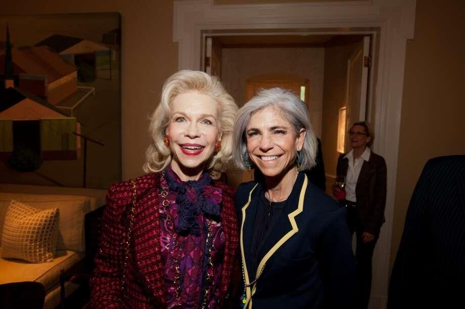 Lynn Wyatt, left, and Judy Nyquist