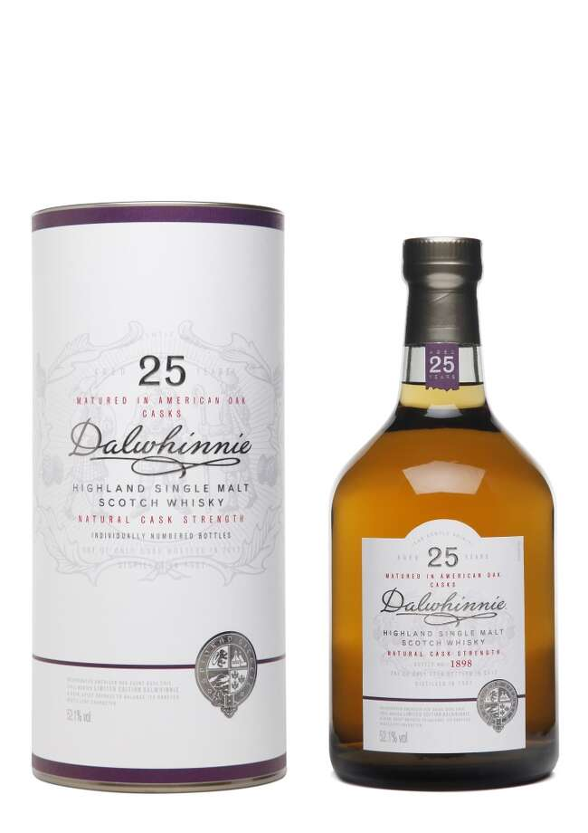 Dalwhinnie 25:  An excellent Highland Scotch, good flavor. (52.1% alc.; $289)