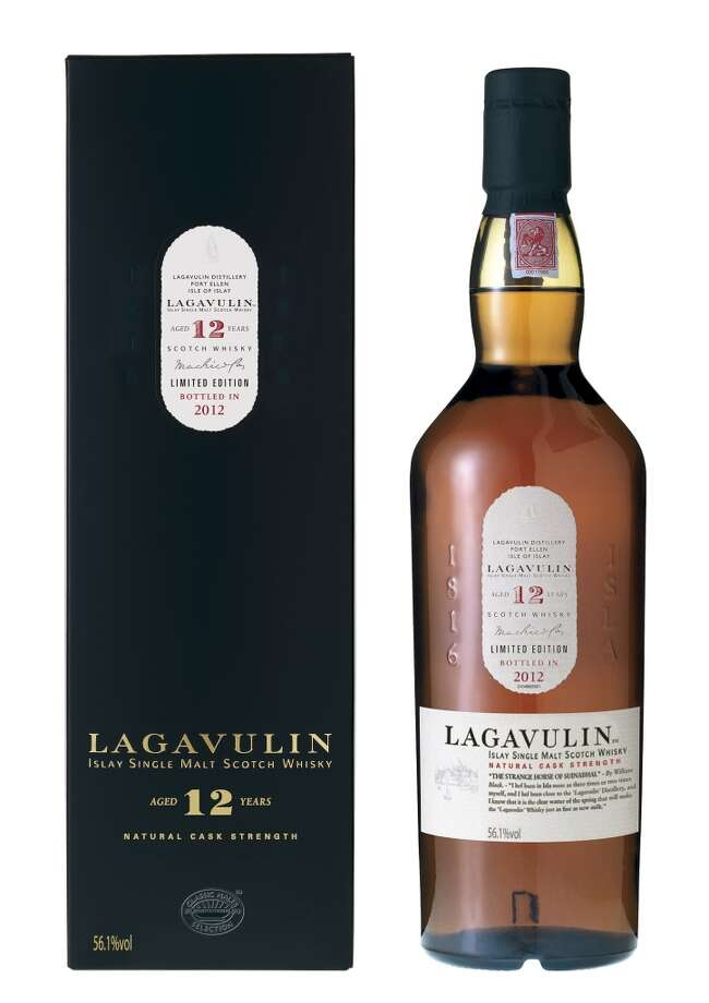 Lagavulin 12:  This is one of my favorites -- and among  the least expensive.  This is not the 16 year old Lagavulin you see in stores, but the 12 Year old, before it's put into sherry casks and at full cask strength.  One sip, and you look around to see if your house is on fire.  (56.1% alc.; $111)