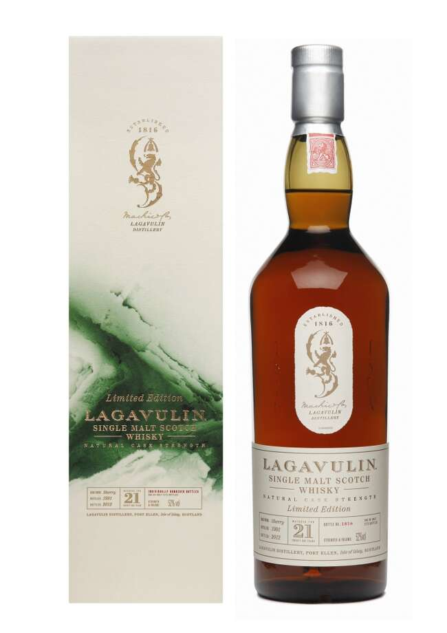 Lagavulin 21 (1991):  Great stuff, aged in sherry oak casks . . . but I like the 12 year old just as much or better.  And you can buy almost six of those for one of these.  (52 % alc.; $624)