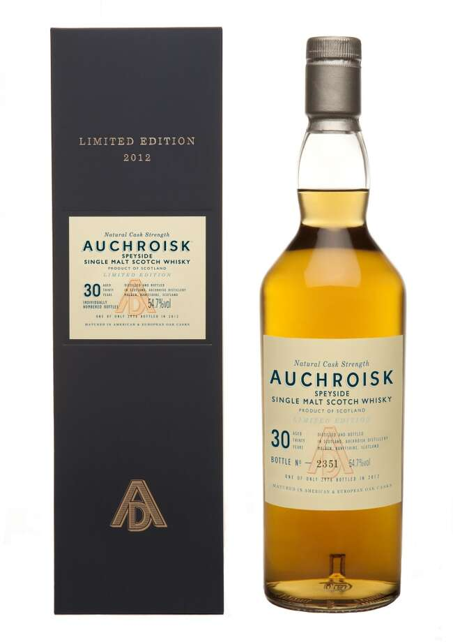 "Auchroisk 30 Year Old 1982:  My least favorite of the Scotches, but then I'm not a Speyside fan.  Last year, I said that ""AUCHROISK!"" is the exclamation a Scotsman makes as he's spitting it up.  This year's is better -- but it's still the only bottle I didn't finish, and we're talking about a one-shot bottle.  (54.7% alc.; $359)"