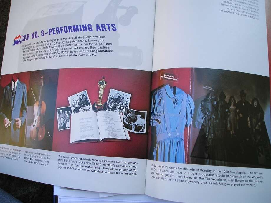 Dress shown in brochure from when it toured with the Smithsonial Freedom train in 1975