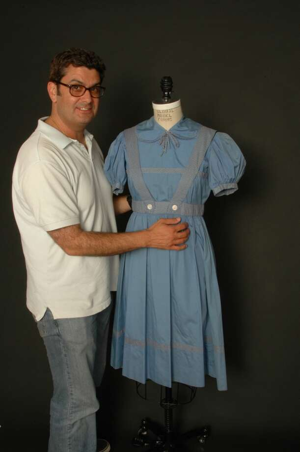 Photo showing the owner Barry Barsamian with the dress   Photo taken by Russ Fischella Photo: Russ Fischella
