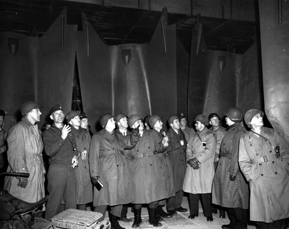 U.S. congressmen who came to Europe to investigate German atrocities inspect the underground V-2 factory at Nordhausen on May 1, 1945. Photo: UniversalImagesGroup, UIG Via Getty Images / Universal Images Group Editorial