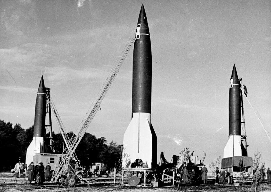 This is a German V-2 launching site. Photo: Roger Viollet, Roger Viollet/Getty Images / © Roger-Viollet