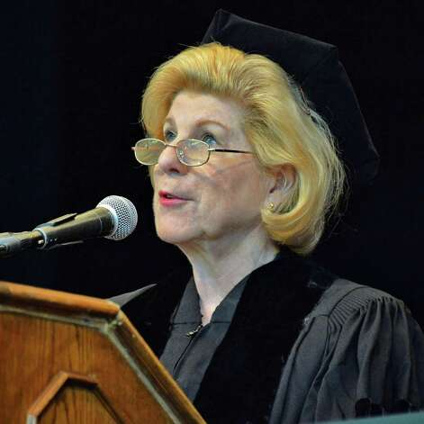 Nina Totenberg delivers the commencement address to graduates of Albany Law School at the Saratoga Performing Arts Center, Saratoga Springs, NY Friday May 17, 2013.  (John Carl D'Annibale / Times Union) Photo: John Carl D'Annibale / 10022118A