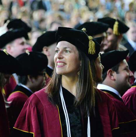Albany Law School graduate Erika Houser of Coxsackie during  commencement ceremonies at the Saratoga Performing Arts Center, Saratoga Springs, NY Friday May 17, 2013.  (John Carl D'Annibale / Times Union) Photo: John Carl D'Annibale / 10022118A