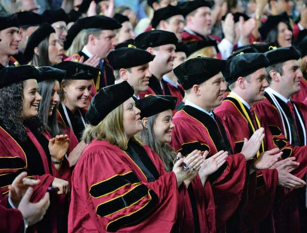 Albany Law School graduates during  commencement ceremonies at the Saratoga Performing Arts Center, Saratoga Springs, NY Friday May 17, 2013.  (John Carl D'Annibale / Times Union) Photo: John Carl D'Annibale / 10022118A
