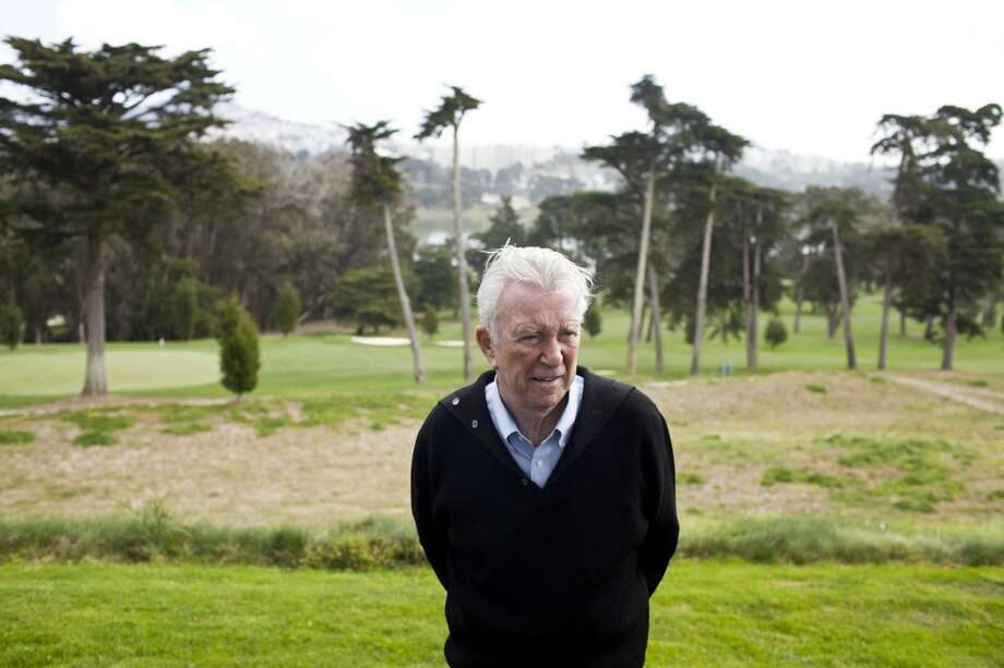 Former PGA golfer Ken Venturi on the 18th green at the renovated Olympic Club Course in San Francisco, Calif., March 12, 2012.