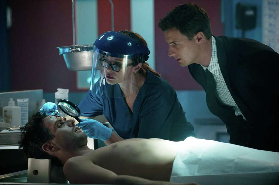 """In the premiere episode of """"Motive,"""" a well-liked high school teacher (Joey McIntyre) is found murdered in his bedroom. Photo: ABC"""