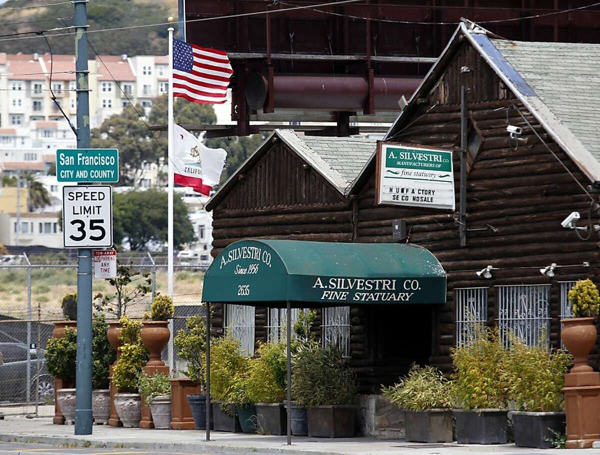 The former George's Log Cabin sits precisely on the San Francisco-San Mateo County boarder on Thursday, May 16, 2013 in San Francisco, Calif.