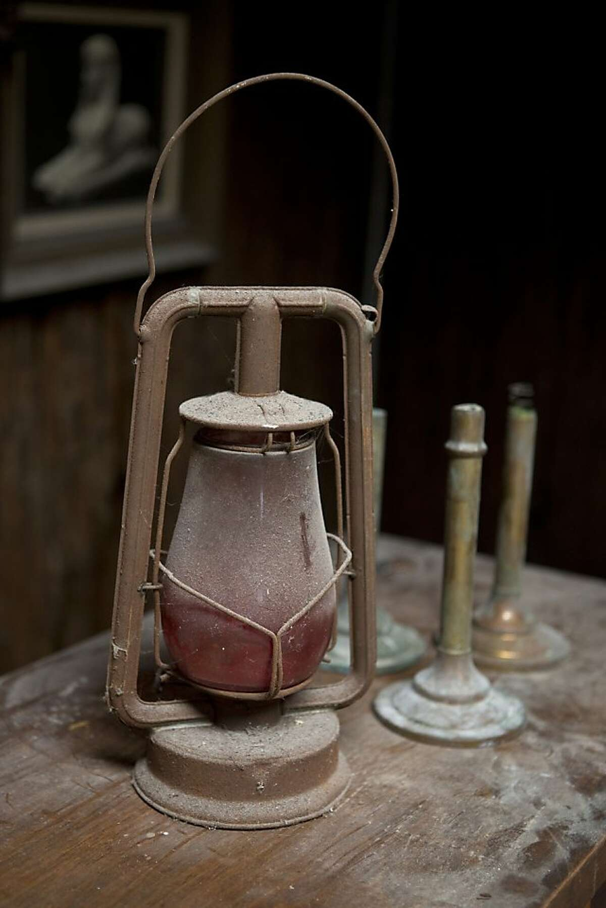 Original lanterns of the former George's Log Cabin on Thursday, May 16, 2013 in San Francisco, Calif.
