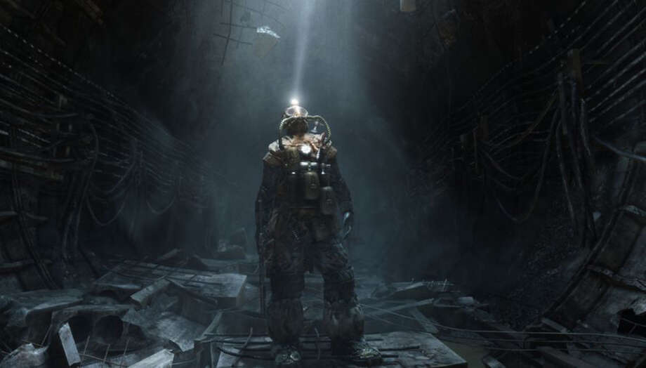 """In the intensely depressing world of author Dmitry Glukhovsky's """"Metro 2033,"""" in the new game """"Metro: Last Light,"""" you live in a vast tunnel system beneath Moscow"""