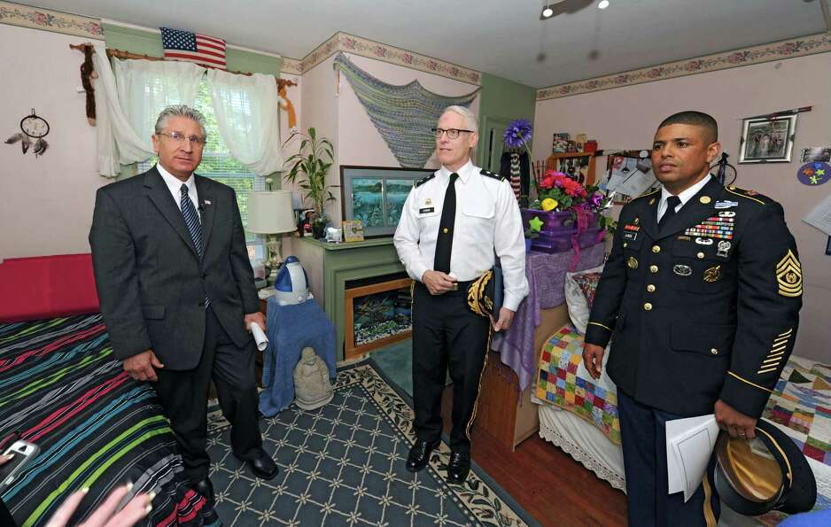 From left, Assemblyman Jim Tedisco, U.S. Army Major General Peter Lennon and Army Reserves Command S
