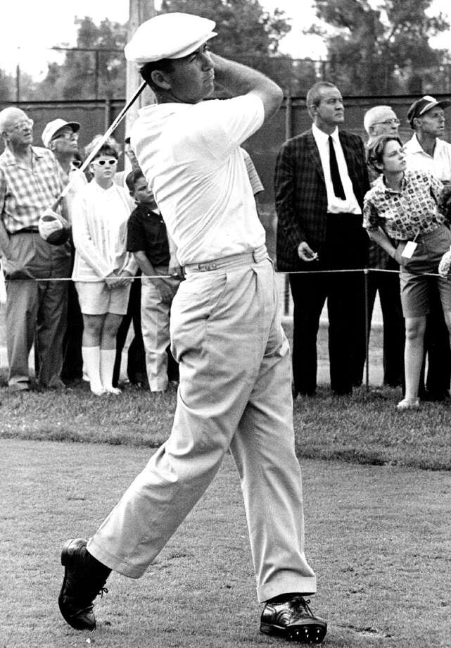 Ken Venturi, starting a comeback after a two-year slump, tees off on No. 10 at the Denver Country Club in 1963. He shot a five-under-par 30 on the front nine, the day's best in first round of the Denver Open golf tournament.