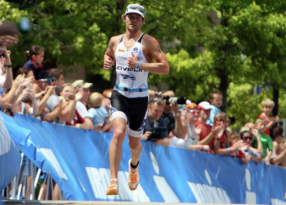 Justin Daerr, who grew up in Houston and now lives in Colorado, has a special affinity for a triathlon in his home state. Photo: James Nielsen, Staff / © Houston Chronicle 2012
