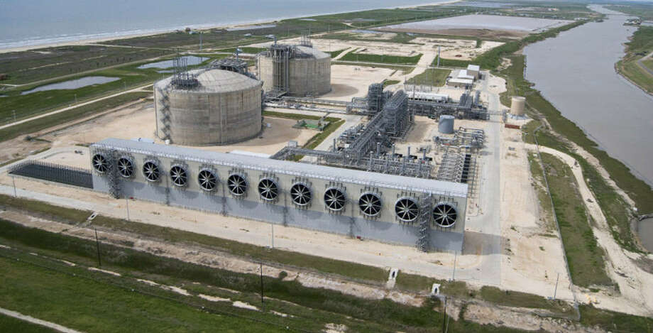 Freeport LNG still must win approval from the federal government to convert its existing Quintana Island natural gas import terminal into a facility capable of liquefying the fuel and shipping it overseas. Photo: Courtesy Photo