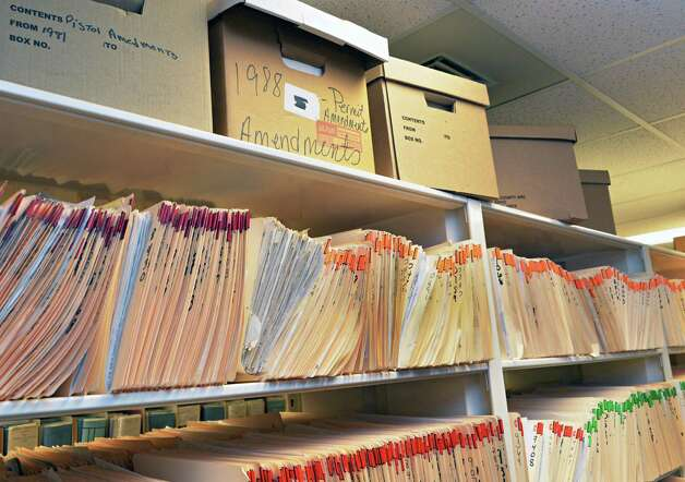 Some of the 20,000 pistol permits in the records room of the Rensselaer County Clerk's office in Troy, NY Friday May 17, 2013.  (John Carl D'Annibale / Times Union) Photo: John Carl D'Annibale / 00022478A