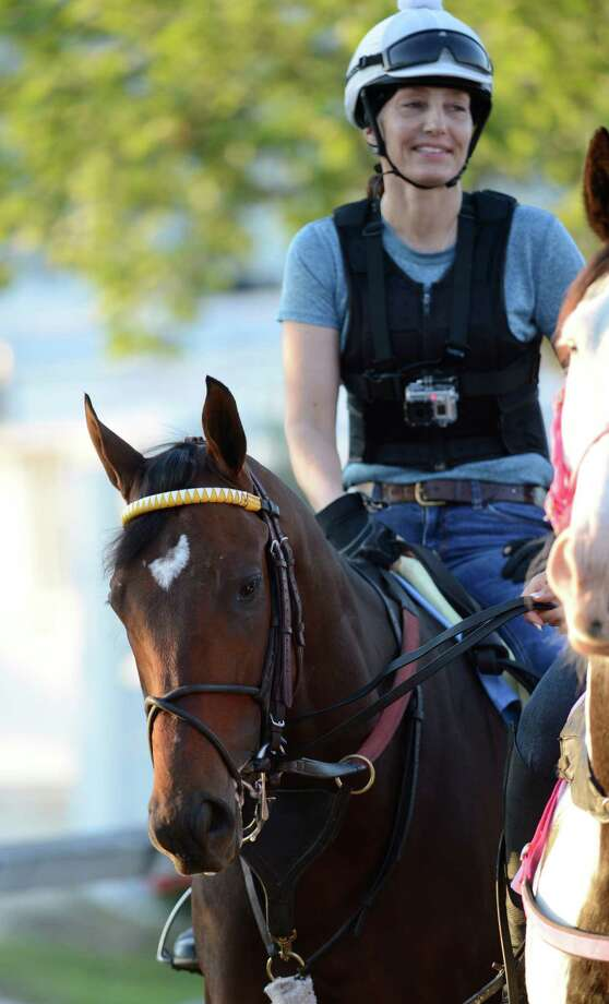 Departing heads back to the barn after his morning work   May 17, 2013 the day before the Preakness the second jewel of the Triple Crown for thoroughbreds which will be held at the Pimlico Race Course Saturday in Baltimore, MD.  (Skip Dickstein/Times Union) Photo: SKIP DICKSTEIN
