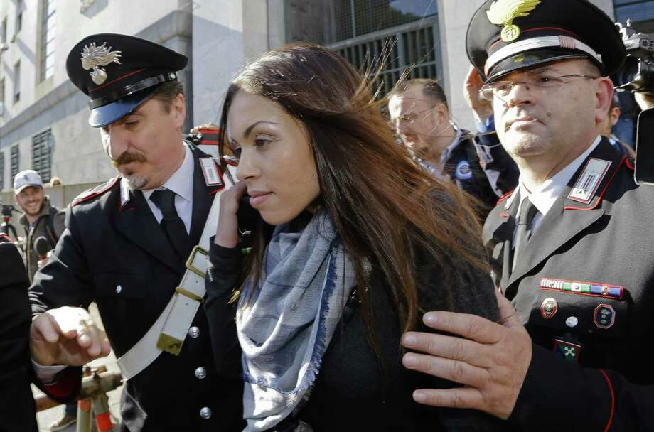 El Mahroug was 17 when she met Silvio Berlusconi, though she denies ever having sex with him. Photo: Associated Press