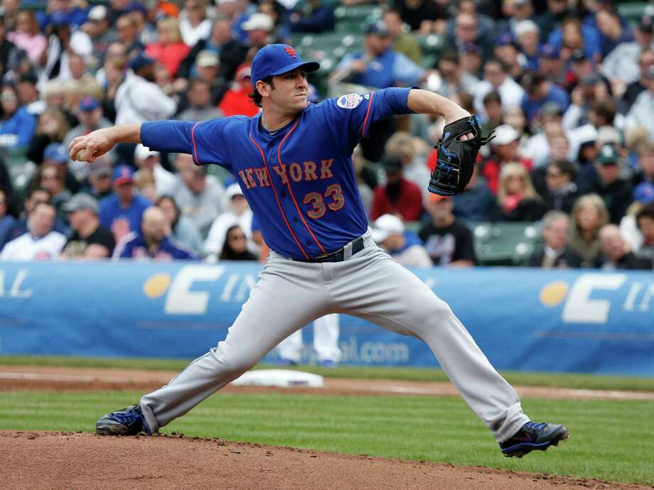 New York Mets starting pitcher Matt Harvey delivers during the first inning of a baseball game against the Chicago Cubs Friday, May 17 2013, in Chicago. (AP Photo/Charles Rex Arbogast) Photo: Charles Rex Arbogast